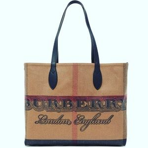 Burberry Medium Doodle Reversible Coated Canvas